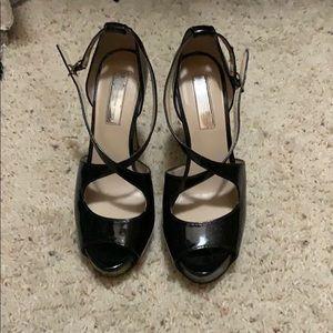 INC black platform heels
